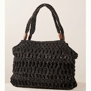 Anthropologie Claudine Macrame large tote